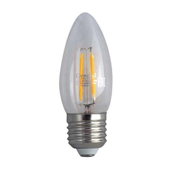 7вт GF 230в-4500к-Е27 свеча (100155)